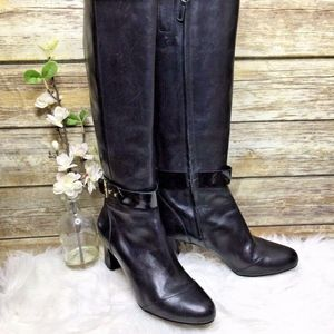 Cole Haan Miriam Black Leather Tall Boots